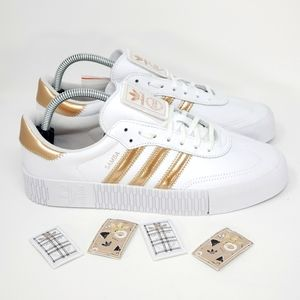 Adidas Womens Sambarose Copper Metallic Size 10